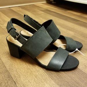 TOMS Suede Block Heel Sandals